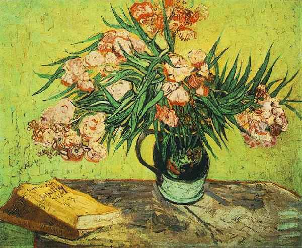 Vaso-di-oleandri-e-libri-Vase-with-Oleanders-and-Books
